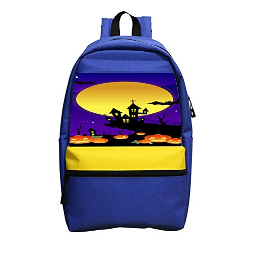 Halloween Night Schoolbag Boys And Girls 1-6 Year Old Children Backpack Blue ()