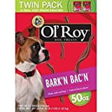 Ol' Roy Bark'n Bac'n Dog Treats, (Bark'n Bac'n, 50-Ounce) Larger Image