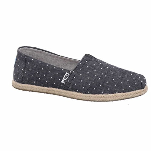 TOMS Women's Seasonal Classics Black Dot Chambray 8 B US