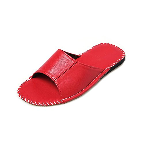 Femme pour TELLW Women Chaussons Red xf44qUE1