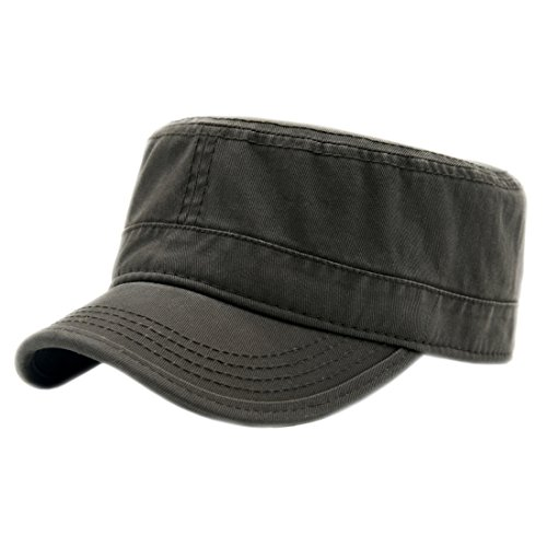 Duolaimi Cotton Trucker Cap Military Hat Cadet Army Cap for Unisex Adult ()