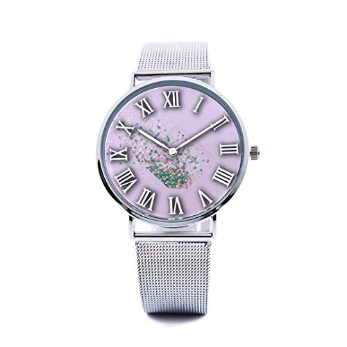 Cards Correspondence Casual (Unisex Fashion Watch Envelope Nostalgic Hand-Drawn Thoughts Print Dial Quartz Stainless Steel Wrist Watch with Steel Strap Watchband for Women/Men 36mm&40mm Casual Watch)