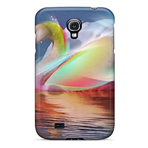 Browncases Fashionable BudM-1711-Qt Rainbow Swan Case Cover Skin For Galaxy S4