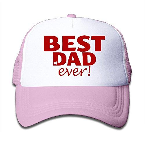 child-best-dad-ever-adjustable-snapback-mesh-cap-pink-one-size