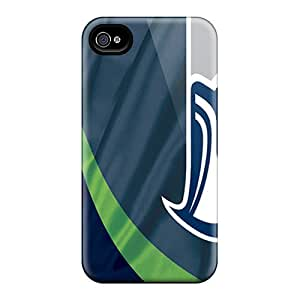 New QWL16495pBwc Seattle Seahawks Skin Cases Covers Shatterproof Cases For Iphone 4/4s