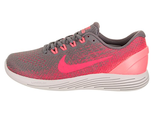 Nike Wmns Lunarglide 9, Zapatillas de Running Para Mujer Gris (Gunsmoke/solar Red/hot Punch/v 006)