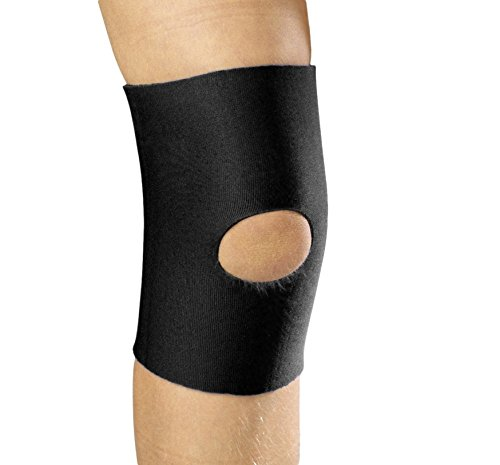 OTC KidsLine Knee Sleeve, Open Patella, Neoprene, Black, Medium