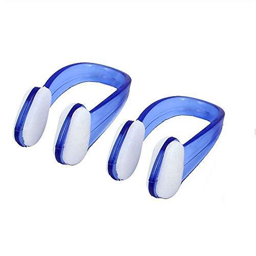 PULABO 수영 실리콘 코 클립 방수 수영 코 보호자 수영 코 죔쇠를 위한 성인 어린이 수영 다이빙 2PCS 블루 실용적이고 환경 친화 실용적인