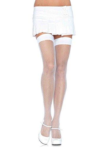 - Leg Avenue Womens Nylon Fishnet Thigh Highs
