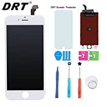 "DRT iPhone 6 Screen Replacement 4.7"" White , LCD Touch Screen Digitizer Assembly Set + Premium Glass Screen Protector+Free Repair Tool Kits"
