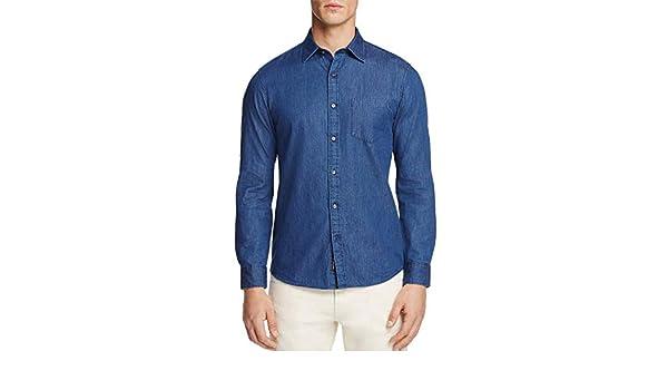 42f9513b522 Michael Kors Slim Fit Denim Button Down Shirt X-Large Indigo at Amazon  Men s Clothing store