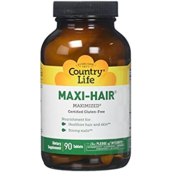Country Life Maxi Hair, 90-Tablet