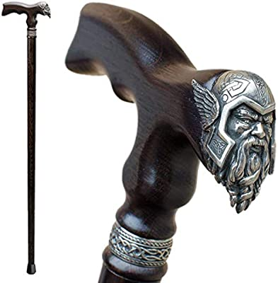 Asterom Elegant Walking Canes For Men Gothic Fashion Wooden Viking Cane Novelty Hand Crafted Heavy Duty Mens Canes