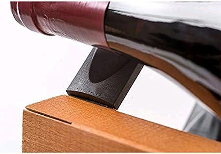 Z&HAO Gabinete De Madera del Vino del Almacenamiento del Hierro De La Madera Sólida Gabinete Clásico De Madera para Las Botellas - Tienda/Estante De La Vinoteca,6Bottle[Clase de eficiencia energética A]
