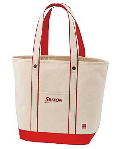 持ってる弾性踊り子DUNLOP(ダンロップ) SRIXON 帆布トートバッグ  GGF-B8007 レッド