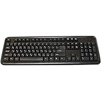 Ergoguys Russian and English Bilingual Keyboard, Black (CD1117)