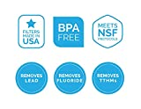 Aquagear Pitcher Replacement Water Filter - Removes Fluoride & Lead - 150 Gallon Capacity Filter