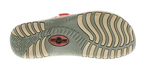 Damen/Damen Leder & Synthetisch Mix Ober, Zehentrenner Pantoffeln Sandalen Gepolstert Vorfußbereich Auf Einem Leichten Keil Sohle Einheit Und Verstellbar Klettverschluss Riemen Für