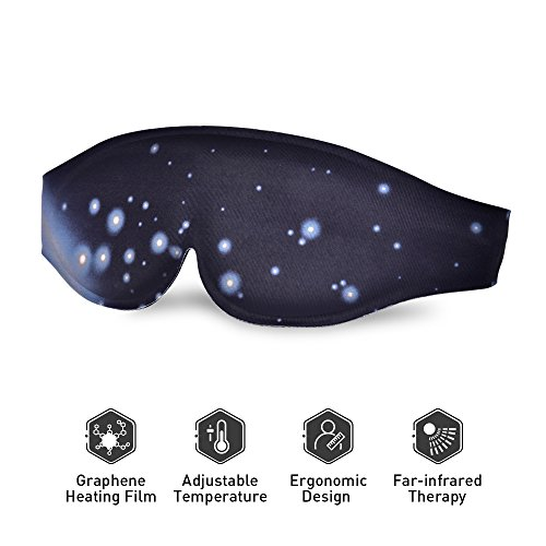 Puffy Pads (Heated Eye mask - Electric Heating Pad Eye Mask Far-infrared Therapy Adjustable Temperature Graphene Sleeping USB Heated Eye Massage Mask Sleep Mask For Dry Puffy Eyes, Dark Circle Eye Treatment)