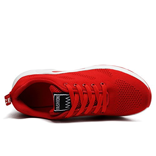 KOUDYEN Donna Fitness Rosa Rosso 35 da Viola Scarpe Unisex Sneaker Ginnastica Running Nero da 41 Sports Scarpe Shoes rosso Sportive q44P1art
