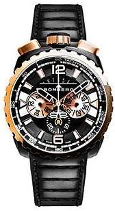 [ボンバーグ] メンズ 腕時計 クオーツ クロノグラフ 懐中時計 ポケットウォッチ ボルト68 BOLT-68 BS45CHPPKBA.050-1.3 革ベルト 黒 金 ブラック ゴールド