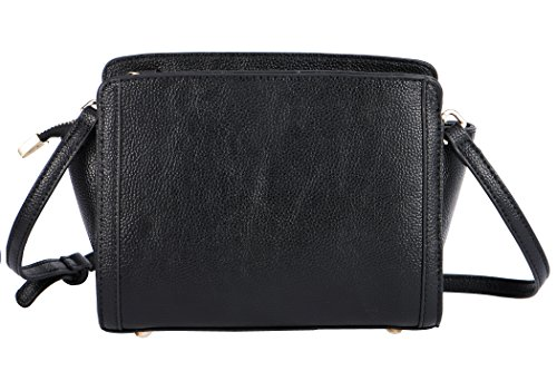 Bag Crossbody Shoulder Black Bag Real Leather Leather SAMKITY Women's Genuine CFwx7UZq