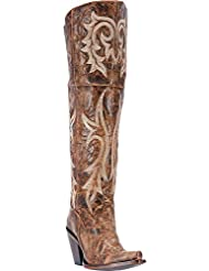 Dan Post Womens Chestnut Jilted Knee Boot Snip Toe - Dp3709