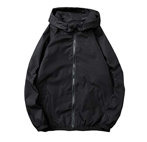 Autumn Coat Juniors' Casual with Black Outwear Leisure RkBaoye Mens Hood Zips nHzw7z6Ex