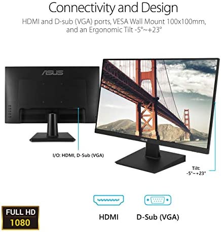 Asus VA27EHE Eye Care Monitor Full HD,Black,27″ Frameless 41Rfh4QD5kL