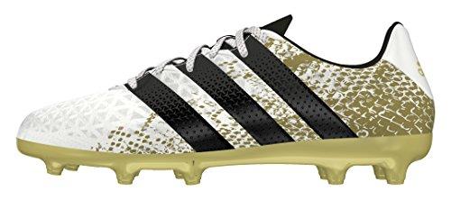 adidas Ace 16.3 FG J, Botas de Fútbol Para Niños Blanco (Ftwbla / Negbas / Dormet)
