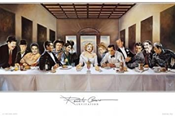 ART-GALERIE-SHOPde Kunst Film S. Invitation Stars Alu-Dibondbild Renato Casaro Premiumqualit/ät Das Abendmahl People /& Eros Modern - MADE IN GERMANY Hollywood 100 x 50cm Leonardo da Vinci