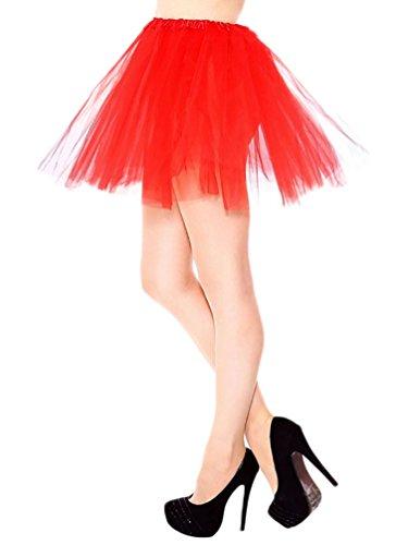 Jupon Tulle jupe Princesse Costume Danse 3 Rouge Femme De Jupe Tutu Mini Jupe Ballet YouPue Couche Courte w4UnqztR