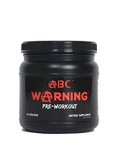 WARNING Pre Workout - Powerful Nitric Oxide Supplement - Explosive Strength, Intense Pumps, Extreme Energy & Focus 30 Servings 564g.