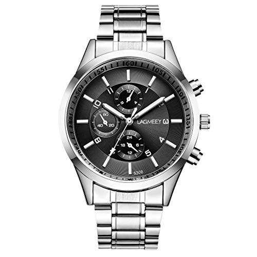 - LUCAMORE Watches Mens Stainless Steel Quartz Analog Wrist Watch Men Luxury Luminous Waterproof Business Sports Watch
