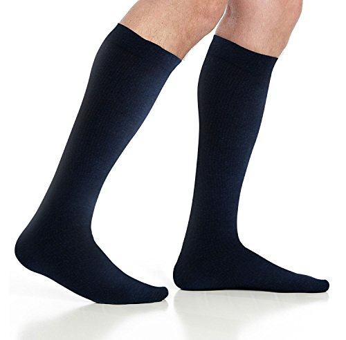 Men's Compression Socks (6-Pack) – L/XL – Navy - Graduated Muscle Support, Relief and Recovery. Great for Running, Medical, Athletic, Diabetic, Travel, Nursing (8-15 mmHg) by Pembrook (Image #7)