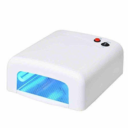 Lampara 36W Ultravioleta UV Secador de Uñas para Manicura Gel Esmalte Permanente Genius Factory S.L 80256