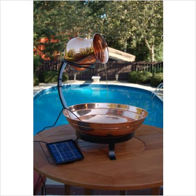 Copper Cascade Solar Fountain