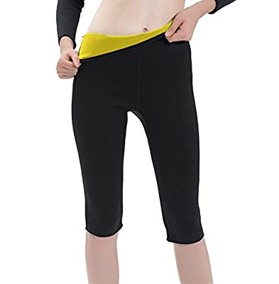 LTSnake Womens Sweat Slimming Pants Body Shapers Neoprene for Weight Loss Fat Burner Slimming Sauna Pants Shapewear