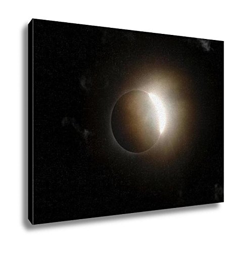 Eclipse Path Light (Ashley Canvas, Total Solar Eclipse Diamond Ring With Clouds, Kitchen Bedroom Dining Living Room Art, 24x30, AG6464626)
