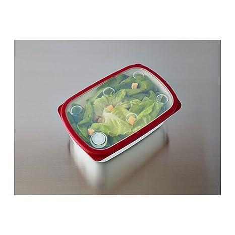 IKEA IKEA 365 + U2013 Lebensmittelbehälter, Weiß, Rot U2013 25 X 17 X 9 Cm:  Amazon.de: Küche U0026 Haushalt