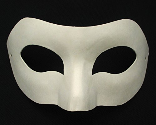 All In One Blank White Mask Women Masquerade