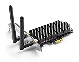 TP-Link Archer T6E AC1300 PCIe Wireless WiFi network Adapter Card for PC, with Heatsink Technology