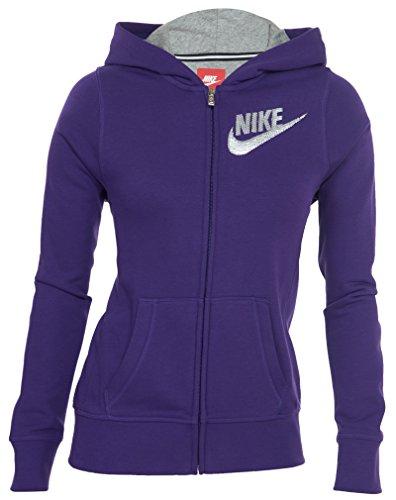 Nike Hbr Sb Full-zip Girls' Hoodie Big Kids Large Purple