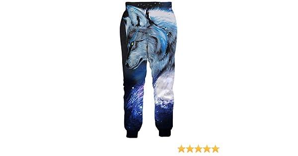 Bsrale Galaxy Wolf Pantalones de chándal Estampados Jogger ...