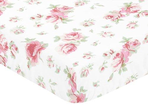 Sweet-Jojo-Designs-Fitted-Crib-Sheet-for-Rileys-Roses-BabyToddler-Bedding-Set-Collection-Rose-Print