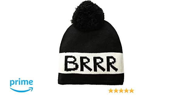 220be8a605d5ee Amazon.com: Kate Spade New York Women's Brrr Beanie Black/Cream One Size:  Clothing
