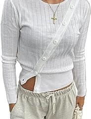 Women Girls Folds Turndown Collar Y2K Shirts Flared Sleeve Button See Through Mesh Blouse Tops 90s E Girls Str
