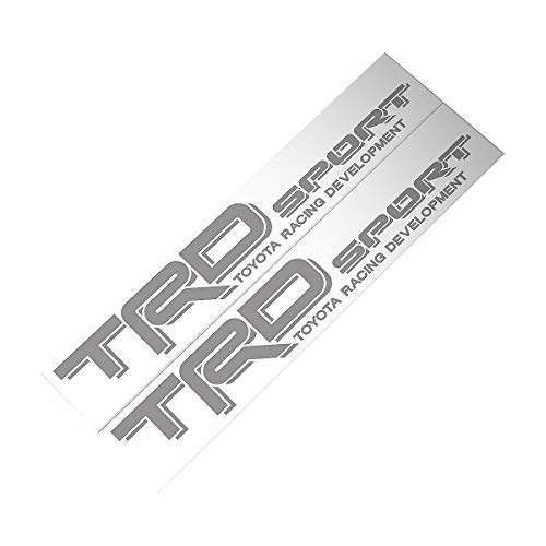 Demupai TRD Sport Decal Vinyl Car Stickers for Toyota Racing Development (Silver) ()