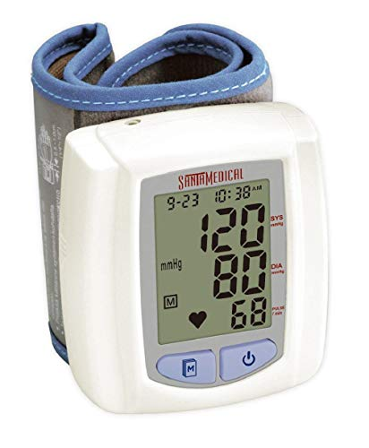 Automatic Wrist Blood Pressure Monitor Blood Monitor + 2AAA and Carrying case with Large LCD Display - FDA Approved
