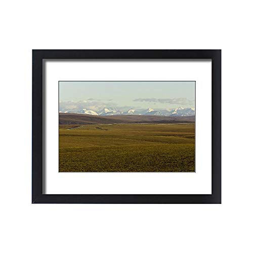 Media Storehouse Framed 20x16 Print of USA, Alaska, North Slope, covid 19 (Trans Alaska Pipeline Brooks Range coronavirus)